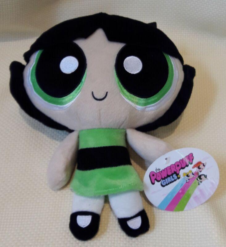"Cartoon Network Power Puff Girls ""Buttercup"" 12"" Plush Doll Toy Factory LLC NWT"