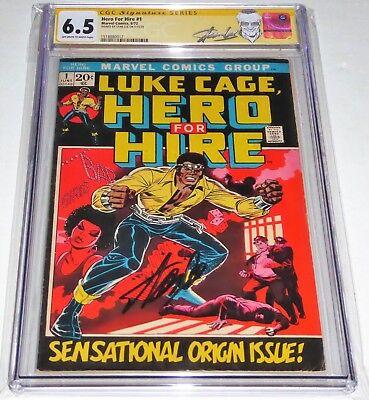 Hero For Hire #1 CGC SS 6.5 Signature Autograph STAN LEE 1st Luke Cage Origin