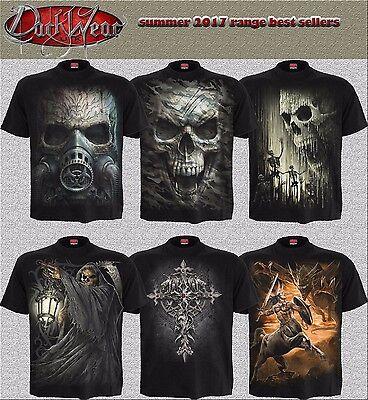 Spiral Direct 2017 DESIGNS Skull/Dragon/Reaper/Rock/Metal/Halloween/T shirt/Top