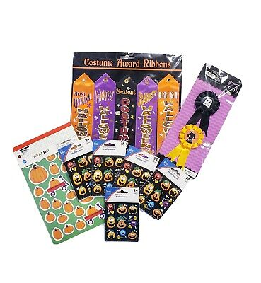 Halloween Party Contest (Lot of New Halloween Party Supplies Awards & Stickers Ribbons Costume)