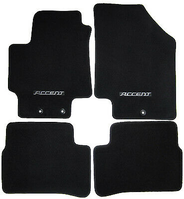 4 New Genuine Oem Factory Accent Floor Mats Set W Logo Carpet Carpeted Black