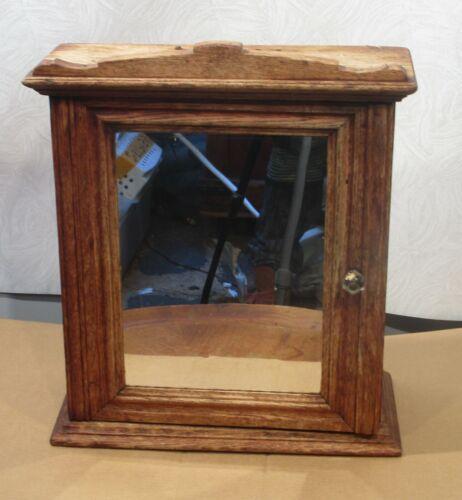 Antique Vintage Wood  Deco Medicine Cabinet with Mirror