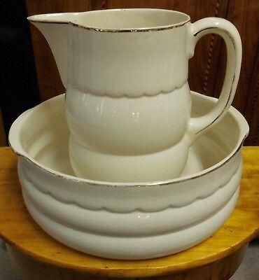 Altes Waschgeschirr Krug Schüssel  Keramik um 1920/30 Art Deco Westfalen