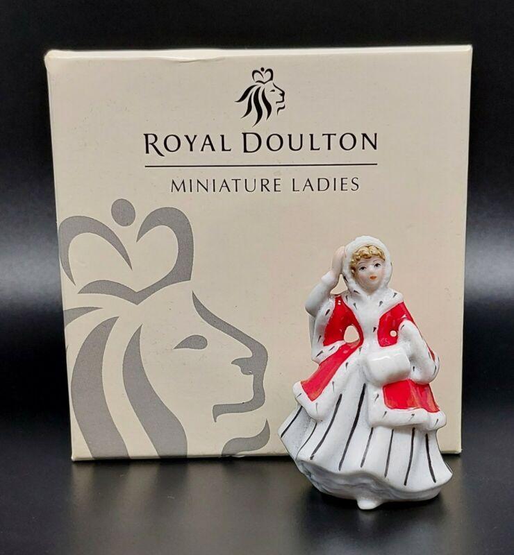 2005 Royal Doulton Miniature Ladies Collection Noelle M222 Christmas Figurine