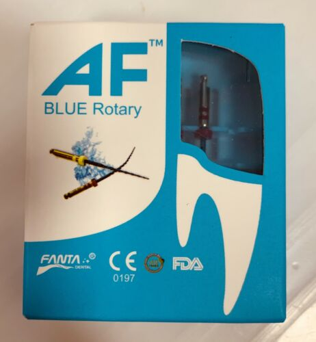 Fanta Dental Endo root canal  AF Blue Rotary memory Autoclave Box 25mm NiTi File