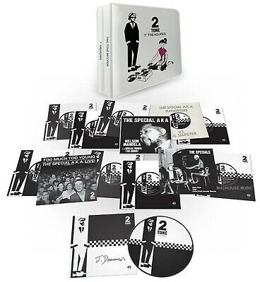 """2-TONE Treasures 7"""" x 12 Vinyl Single BOX Set SIGNED by Jerry Dammers ! IN STOCK"""