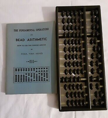 Plastic Abacus & The Fundamental Operations in Bead Arithmetic Book Kwa Tak Ming