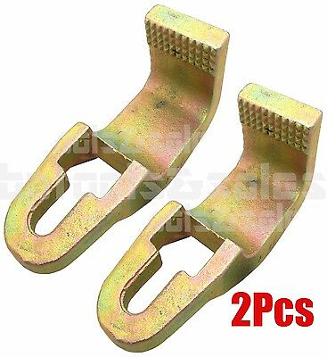 """(2) 3 Ton Sill Hook Straight Cut Tooth 2-1/2"""" Pull Round Hook Clamp Grip Power"""