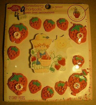 NOS 1980 Vintage Betty Crocker Strawberry Shortcake Candy Cake Decorations -
