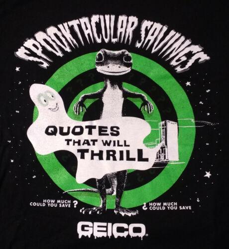 Geico Gecko XL Black T-Shirt Spooktacular Savings NY Comic Con Exclusive NEW