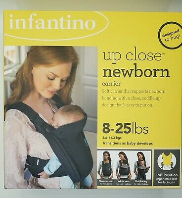 Infantino Up Close Newborn Carrier, Grey