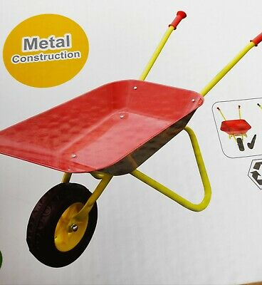 Kinderschubkarre Metall Kinder Schubkarre bis 50 kg Metallschubkarre rot