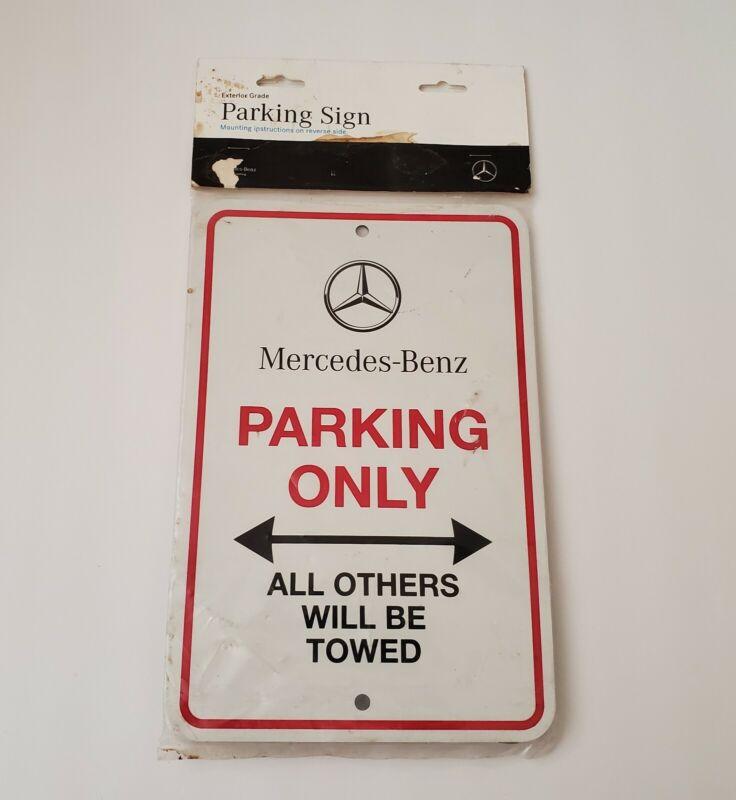 Genuine OEM Mercedes Benz Parking Only Sign Original packaging Metal