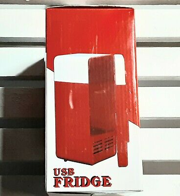 PC USB Mini Refrigerator Fridge Beverage Drink Can Cooler Warmer R8W3