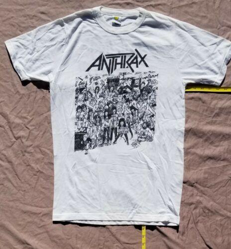 Anthrax  Vtg  NO  FRILLS  shirt  NOT a  reprint. SLAYER  Iron Maiden  TestAmenT
