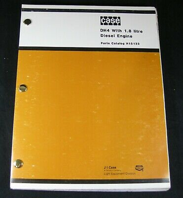 Case Dh4 Trencher Tractor With 1.8 Liter Diesel Engine Parts Manual Book Catalog