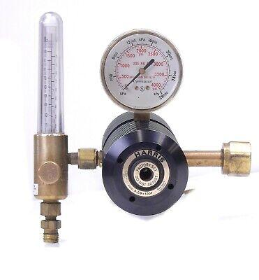 Harris 6-cd-100ft Dual Stage Co2 Flowmeter Gas Regulator 3000 Psig Cga 320 Inlet