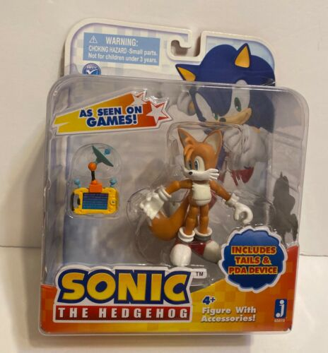 """Sonic 3"""" Action Figure With Accessories Set Tails & Pda Device"""