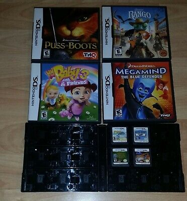 Nintendo DS Lot of 8 Games: Rango, Betty Boop, Megamind, My Baby 3 and More! - More Baby Games