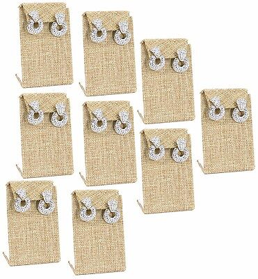 Lot Of 12 Modern Burlap Earring Stand Drop Earring Stand Jewelry Display 3 38h