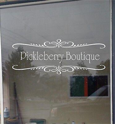 Custom Business Store Name Sign Vinyl Decal Sticker Window Door Glass 18x48