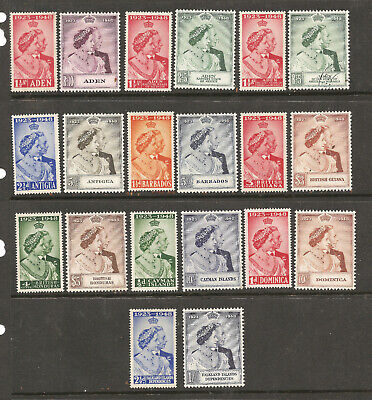 Britain KGVI 1948 Silver Wed Omnibus 10 Diff Cpl Sets m/h f-vf  20 Stamps