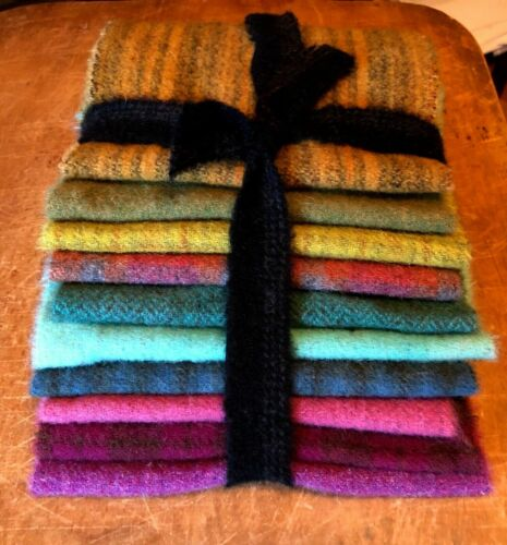 """HAND DYED RUG HOOKING WOOL Mill-Dyed APPLIQUE """"POTPOURRI"""""""