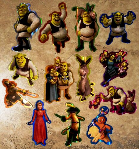 SHREK Forever After Full Set of 13 stickers / decals - vending, new