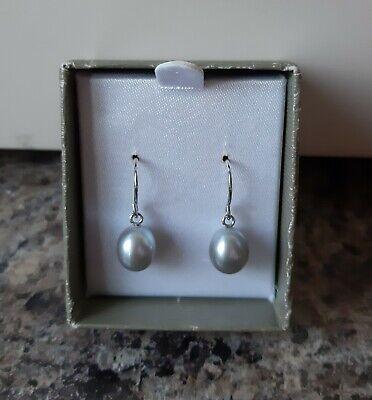 **Honora** Silver And Pearl Drop Earrings