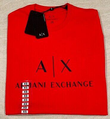 NWT ARMANI EXCHANGE MENS CREW NECK RED TEE T SHIRT  SZ XS S M XL 2XL