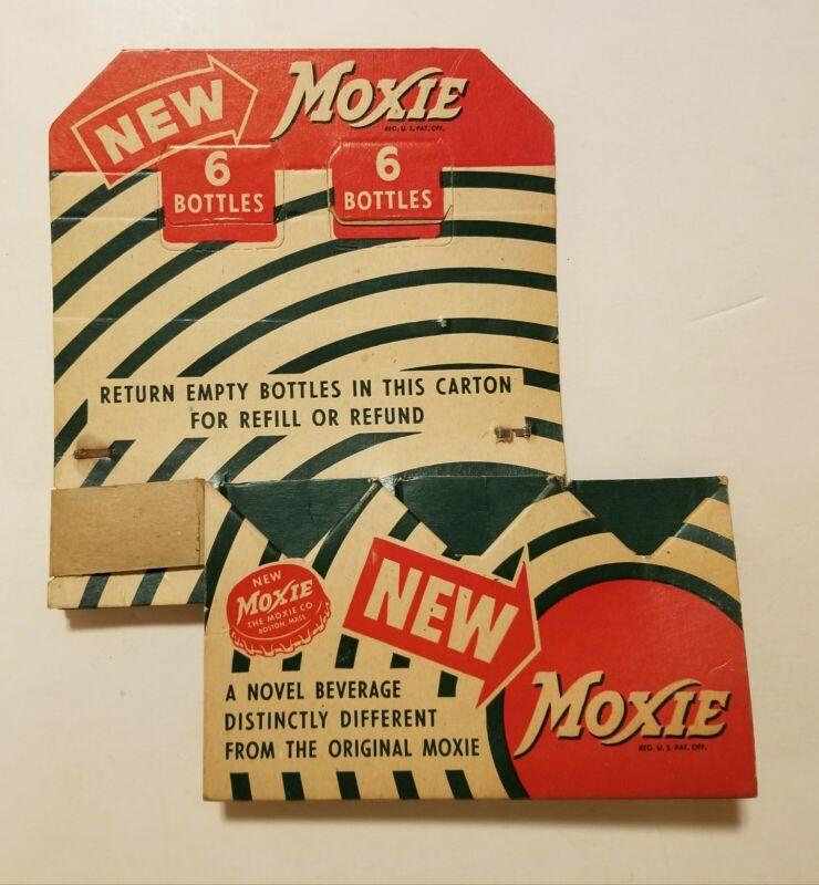 Vintage Moxie Soda 6 Pack Cardboard Carrier