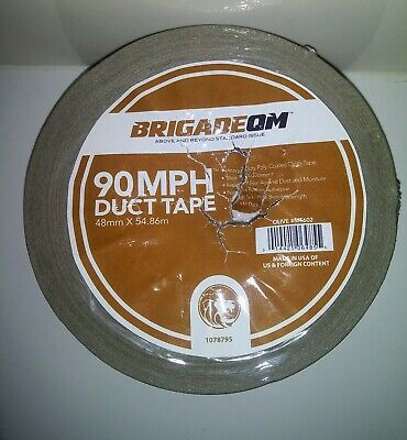 1 Roll Brigade Qm 90 Mph Hurricane Duct Tape 2 X 60 Yds Olive New