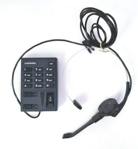 VINTAGE Plantronics Sp-04 Single Line Telephone Amplifier with Headset