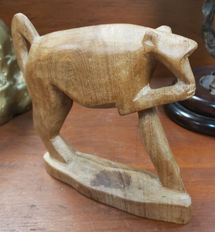 Vintage Wooden Monkey Figurine