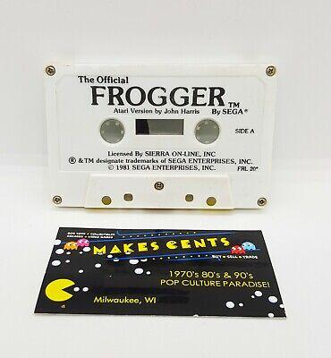 1980s -Official Frogger Sega Atari 400 800 Computer Video Game Cassette Original