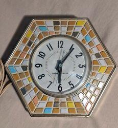 vintage KITCHEN WALL CLOCK - Retro Mid Century Modern General Electric - WORKS