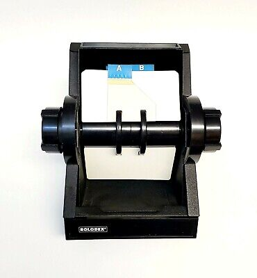 Vintage Rolodex 2254d Black Metal File Made In Usa With Blank Cards Dividers
