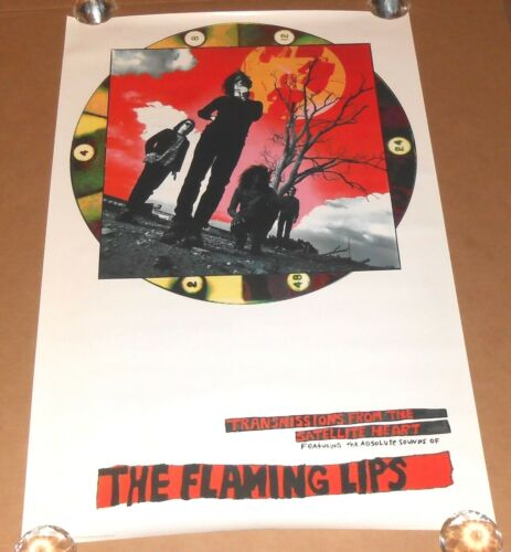 The Flaming Lips Transmissions From the Heart Poster Original Promo 37x29 RARE