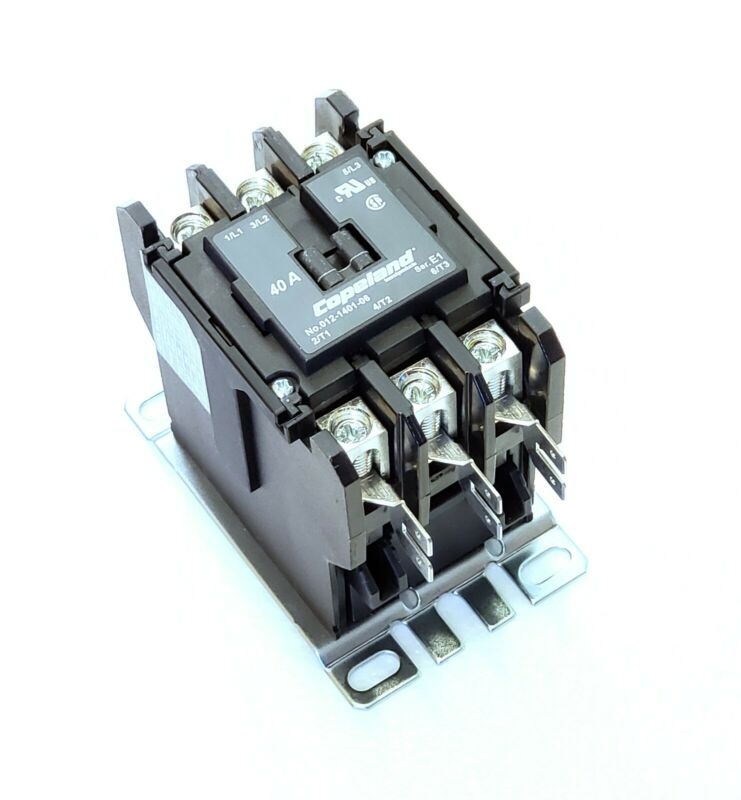 COPELAND 012-1401-06, Definite Purpose Contactor, 40A, 3 Poles, 208/240V Coil