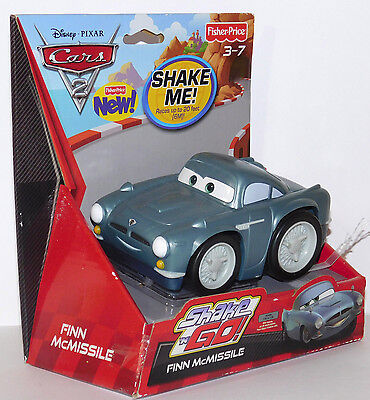 Finn McMissile Cars 2 SHAKE n GO CARS Disney Fisher Price Retired New