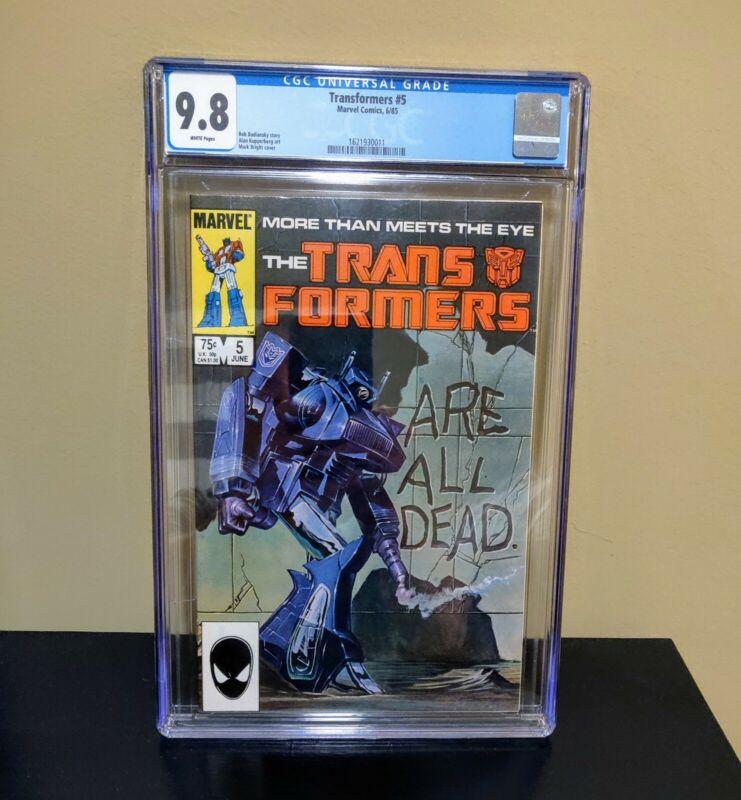 TRANSFORMERS #5 CGC 9.8 White Pages - Marvel Comics 1985