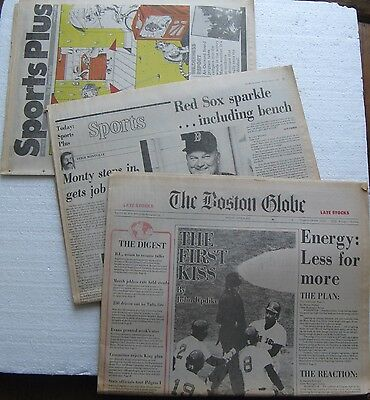 April 6  1979 Boston Globe Newspaper  Red Sox  Yaz  Rice  Etc