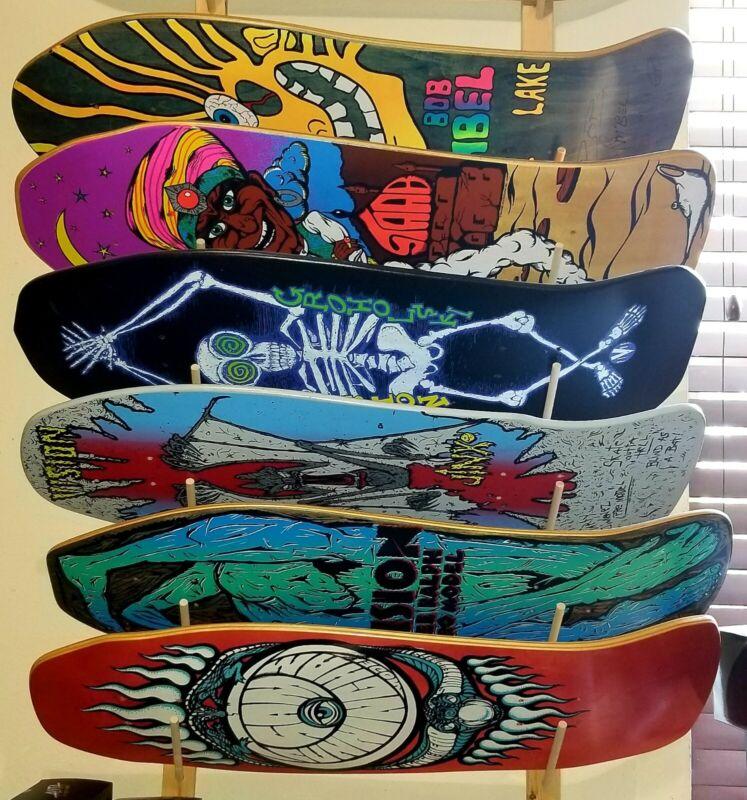 NEW SKATEBOARD RACK! Fits 6 Old or New School Decks: Powell Peralta Alva Zorlac