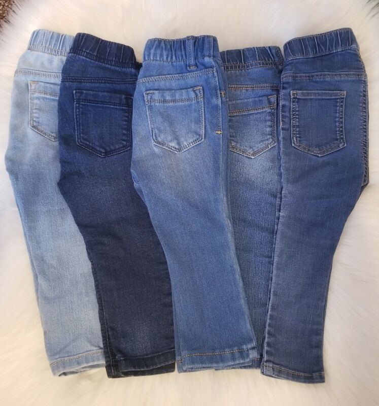 Baby Girl Pants Lot Jeans Jeggings 18-24 Months Old Navy & H&m 12-18  Brand Euc