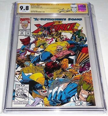 X-Force #16 Triple Autograph Signature CGC SS 9.8 STAN LEE ROB LIEFELD Poly-Bag