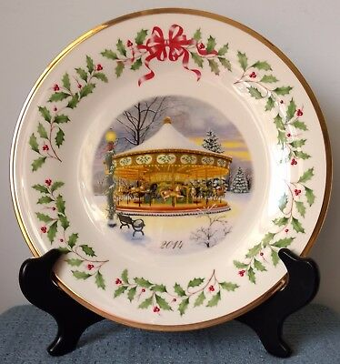 Lenox   Annual Collector Plate   2014   Holiday Carousel   New In Box