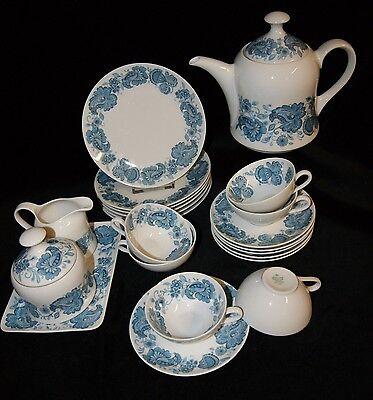 Seltmann Weiden Porzellan Diana Paisley  Vintage 22 tlg Teeservice Tee Set