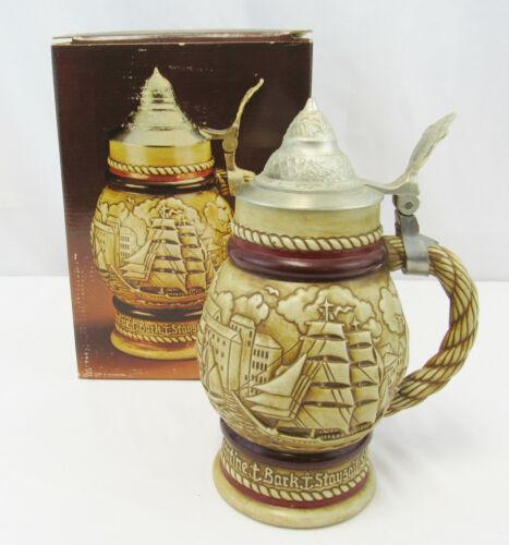 """Vintage Avon 1977 """"Tall Ships"""" Beer Stein In Original Box"""