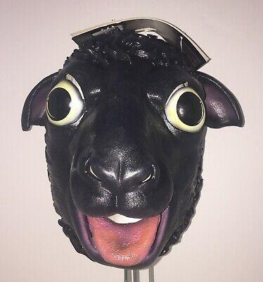 Erwachsene Schwarz Schaf von der Familie Animal Latex Maske Funny Kostüm - Familie Lustig Kostüm
