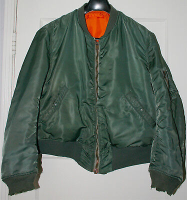 1968 ALPHA INDUSTRIES INC. MA-1 Size Men's XL USAF Military Flight Bomber Jacket for sale  Pacoima